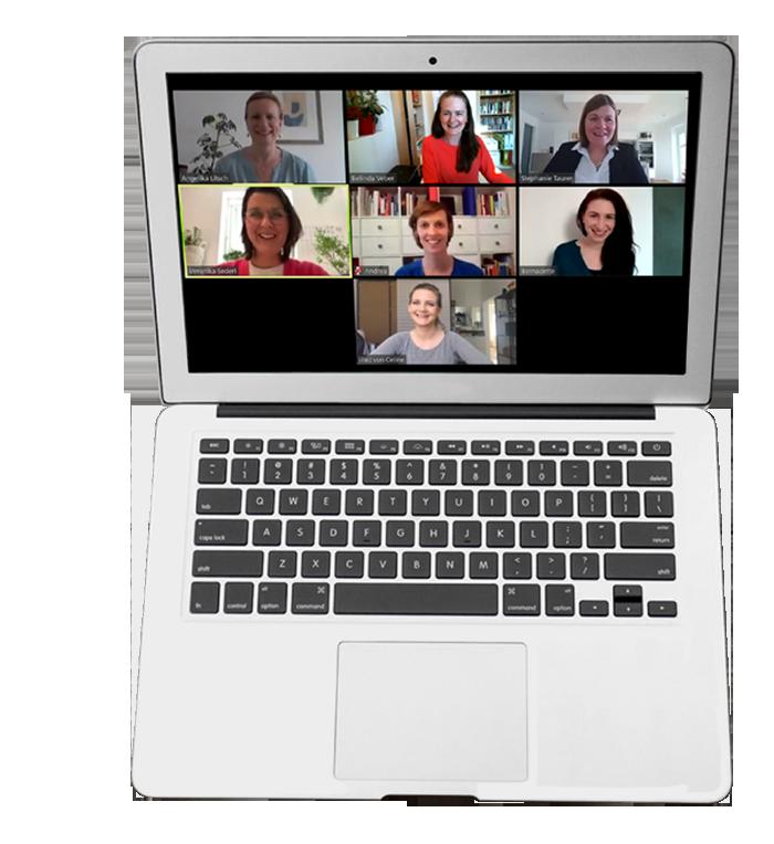 Laptop mit Online Meeting
